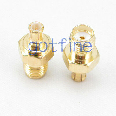 MCX male plug to SMA female jack straight RF connector adapter