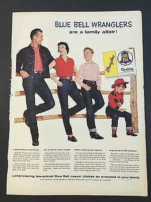 1955 Vintage Ad for Blue Bell Wranglers