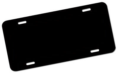 "BLANK 6""x12"" ALUMINUM LICENSE PLATES SIGN TAG BLACK PLATE FOR DECAL STICKERS"