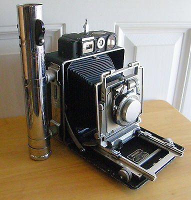Vintage Busch Pressman Model D 4X5 Precision Camera With Heiland Battery As Is