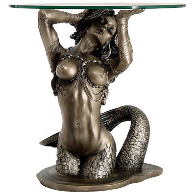 Large Mermaid Table home decor furnishing bronze color