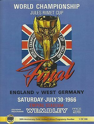England v West Germany - World Cup Final - 30 July 1966 - Gold Limited Edition
