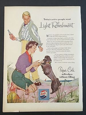 1954 Vintage Ad for Pepsi Cola