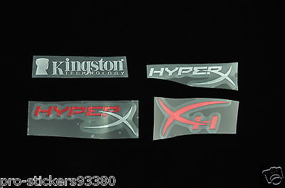 Kingston Hyper X Autocollant Aufklebe Sticker en metal Badge logo