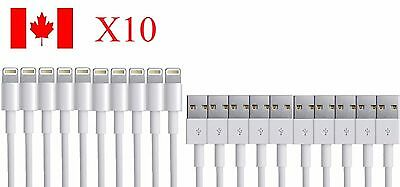 10x 3FT 1M 8 Pin USB Data Sync Charger Cable Cord For iPhone 5 5S iPhone 6 6S