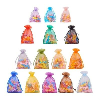 50 pcs Luxury Quality Organza Wedding Jewellery Gift Pouch Favour Bags 7x9 9x12