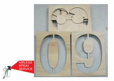 Atomex Road Marking Stencil Numbers 0-9  *3 Sizes Avail* Free Shipping*