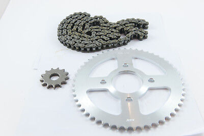 Chain and sprocket set for Pulse 125 Adrenaline