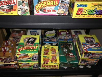 100 Card Vintage Lot 7 Unopened Baseball Packs 1987-94 in Box Griffey Jr Rookie!