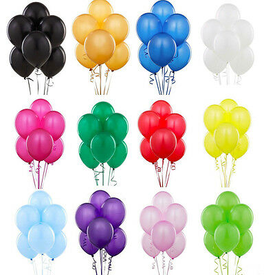 "100Pc Latex Balloons 10"" Party Birthday Wedding Helium Air Colours Decoration"