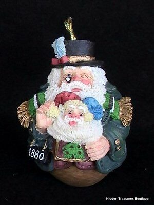 Galleria Lucchese Roman 1880 Roly Poly Santa Christmas Ornament