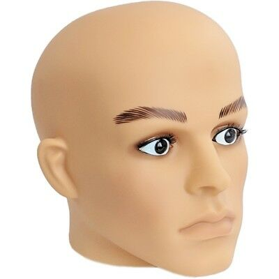 MN-G2 Plastic Male Realistic Head Attachment for Form/Mannequin (Fleshtone)