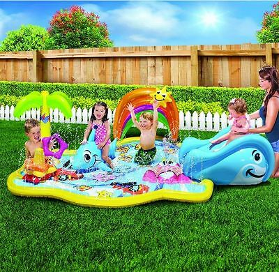 Baby Kids Water Toys Inflatable Water Play Park Activity Center Summer Pool Fun