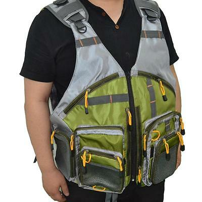 Multi-pocket Fishing Backpack Chest Mesh Bag Vest Outdoor Size Adjustable