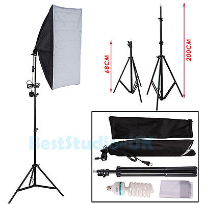 Photography Studio Softbox 135W Continuous Lighting Soft Box Light Stand Kit Set