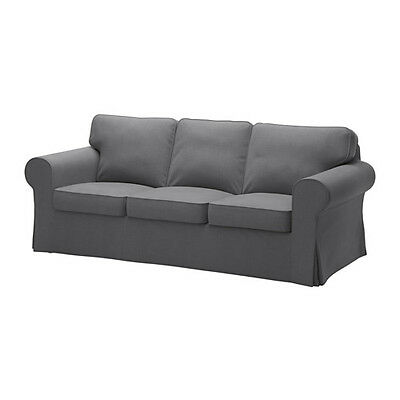 EKTORP Cover Three Seat Sofa,Nordvalla Dark Grey,Removable,Washable,Hardwearing