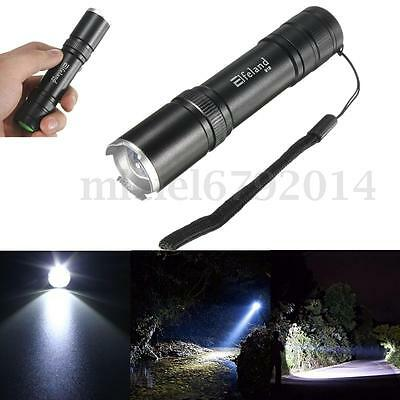 Super Bright 5000LM T6 LED Zoomable 18650 Flashlight Torch Lamp Light 5Mode