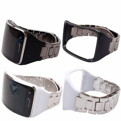 2in1 Stainless Steel Watch Band Wrist Strap & Holder For Samsung Gear S SM-R750