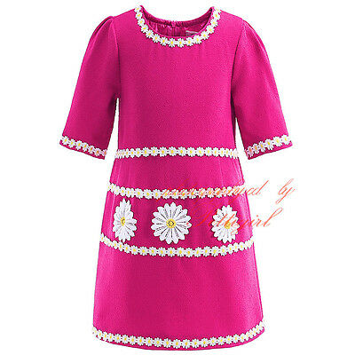 Girls Daisy Party Dress Princess Pageant Summer Holiday Flower Kids Dress 3-12Y