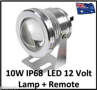 2 X auto colour changing pond lights, sumbersible LED 12 Volt Aluminium CHROME