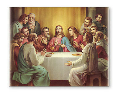 The Last Supper Jesus 12 Disciples Canvas Picture Catholic Religious Christian
