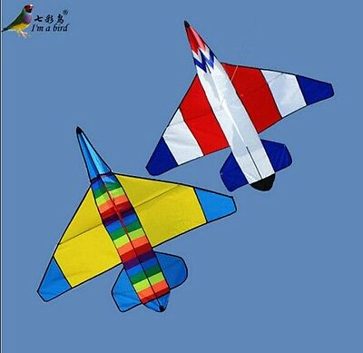 NEW 47 In Plane Kite / Double Color Fighter Outdoor fun Sports Children's toys