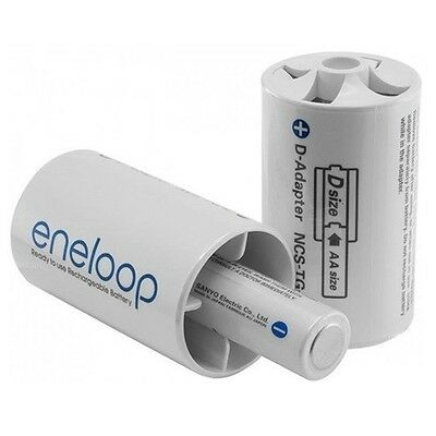 2x Panasonic Eneloop Adapter AA R6 to D Mono R20 ON1193 UK