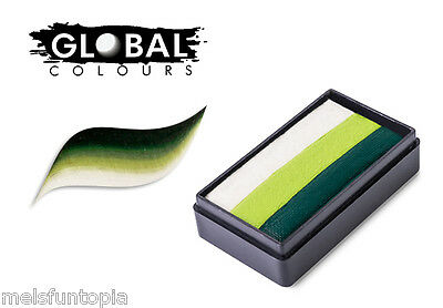 Global Colours 30g Congo Fun Stroke Rainbow Cake, Professional Face Paint, Party