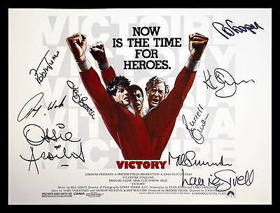 *New* Escape to Victory 12x16 Football Photograph Signed By 9