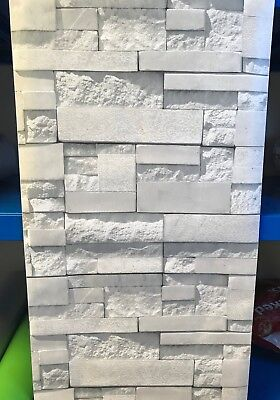 White Modern Brick Sticky Back Plastic Self Adhesive Vinyl Film Pvc Feature Wall