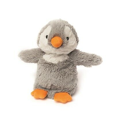 Warmies Cozy Plush Fully Microwavable GREY PENGUIN Lavender Scented Heatable Toy