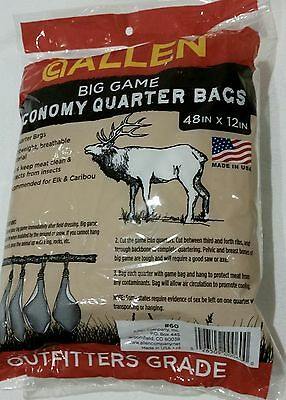 "Allen Big Game Meat Bag  4 Pack  -  48"" x 12"""