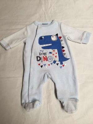 New BooBear Baby Pyjamas  Sleepsuit Nightwear Blue Dino