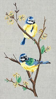 Anchor - Embroidery Kit - Blue Tits - Birds - 38 x 20 cm - PE650
