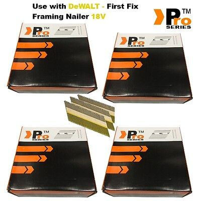 8000  Nails for  DEWALT Cordless DCN692 Framing Nails,Clipped D-Head  -    014