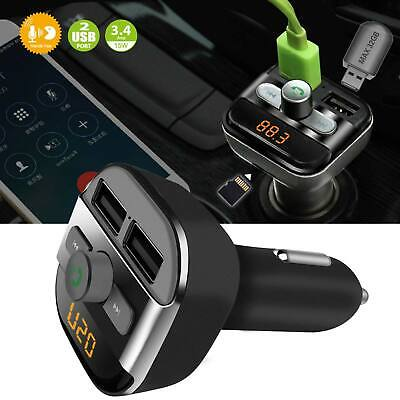 New Bluetooth Car Kit Wireless FM Transmitter Dual USB Charger Audio MP3 Player