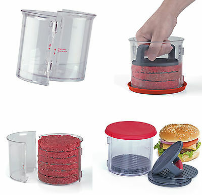 11 Piece Hamburger Patty Caddy 8 Dividers With Press Plate & Lid New