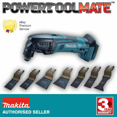 Makita DTM50Z 18v Li-Ion Cordless Multi-Tool -Naked- c/w 8-Piece Multi-Tool Set
