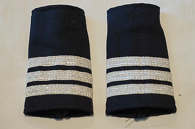 Canadian Fire 3 Three Bars Silver Shoulder Slip Ons Pair