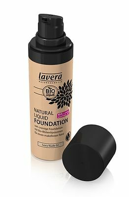 LAVERA Natural Liquid Foundation - Ivory Nude 02 - 30ml VEGAN + NATURKOSMETIK