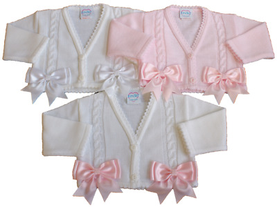 Baby girl BOW cardigan bolero BOWS spanish style christening wedding