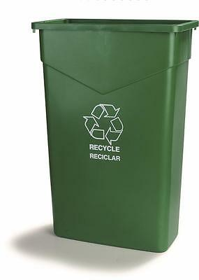 Carlisle 342023REC09 TrimLine Recycle Can 23 Gallon Green Case of 4