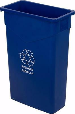 Carlisle 342023REC14 TrimLine Recycle Can 23 Gallon Blue Case of 4