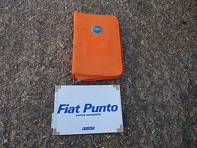 Fiat Punto Mk2 Models 1999 - 2005 Owners Manual  And Orange Fabric Wallet