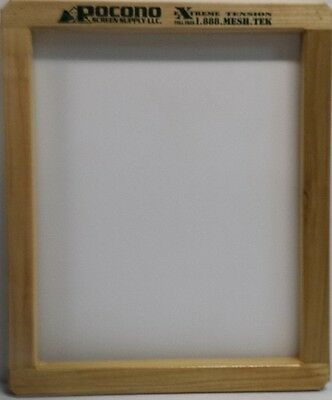 6 NEW WOOD POCONO SCREEN PRINTING FRAMES (20x24) EXTREME TENISION MESH -110
