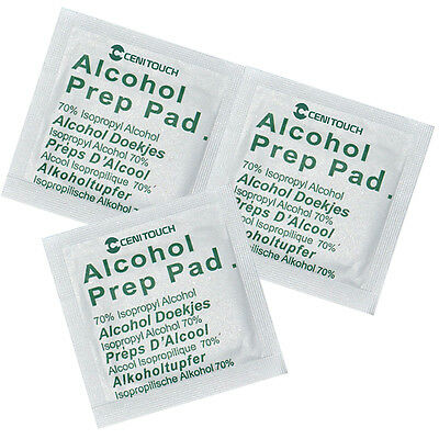 100pcs Alcohol Pads Preps Wipes Antiseptic Cleanser Cleaning Sterilization