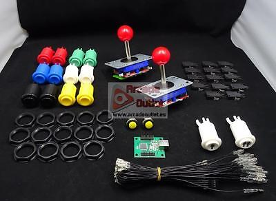 Kit de Joysticks y botones + Interface USB 2 Jugadores