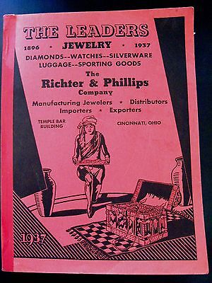 """1937 """"Richter & Phillips"""" Catalog - Leaders in Jewelry, Watches & More *"""