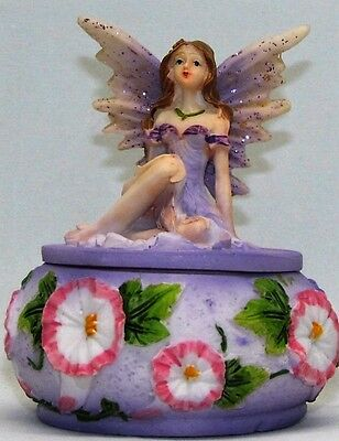Faires~Pin Box With Fairy On Top