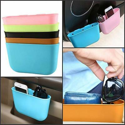 Mini Hanging Auto Car Garbage Trash Case Holder Storage Box Bin Rubbish Can